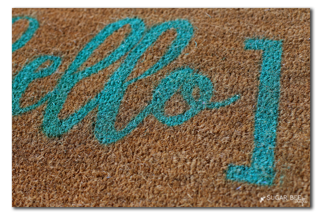 hello door mat rug diy