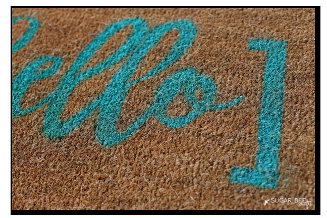 hello door mat rug diy