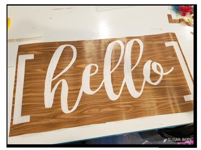 hello mat stencil