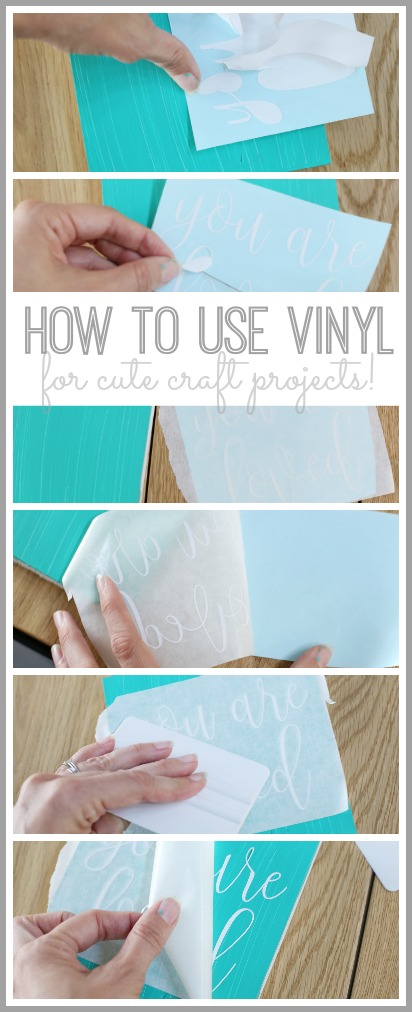 how to use and apply vinyl for craft projects