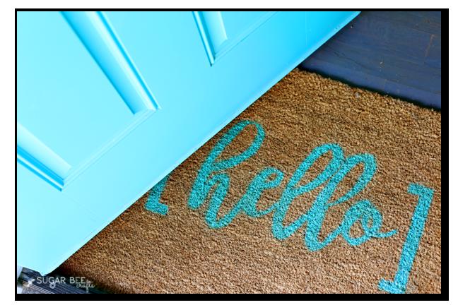 make your own custom rug stencil