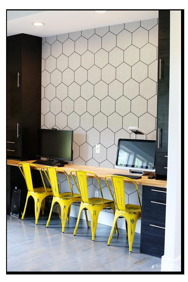 modern hexagon wallpaper diy