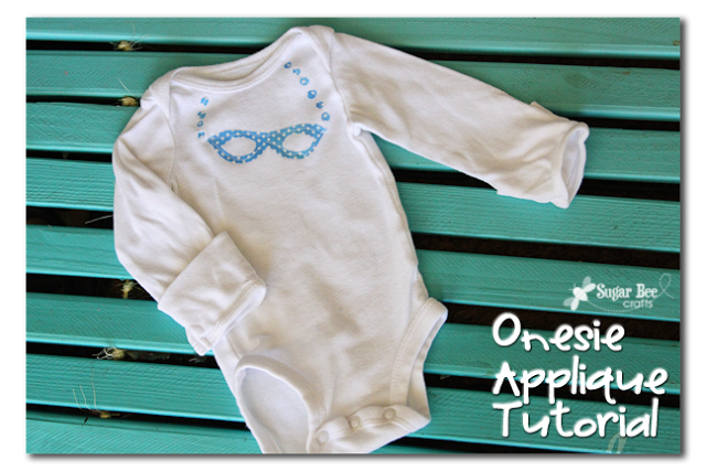 onesie applique tutorial