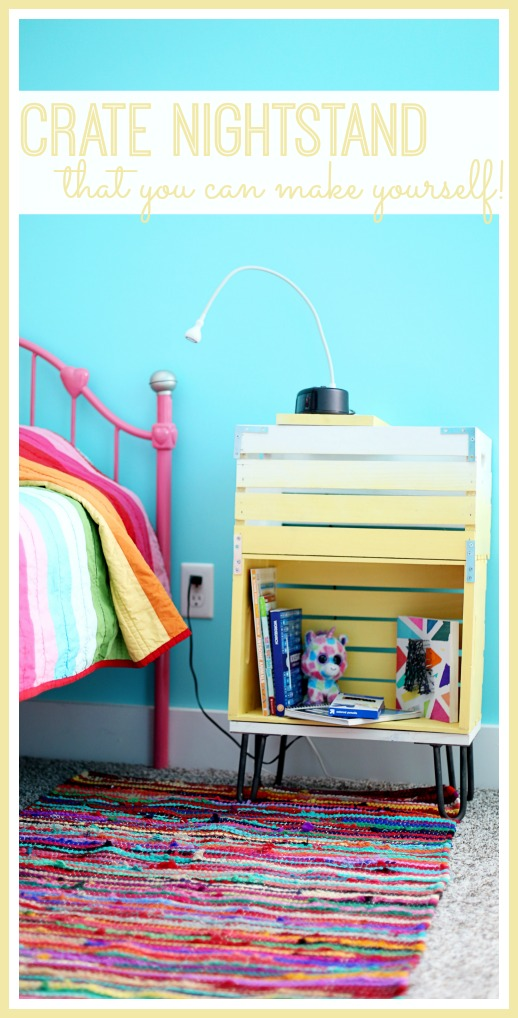 simple crate nightstand diy to make yourself