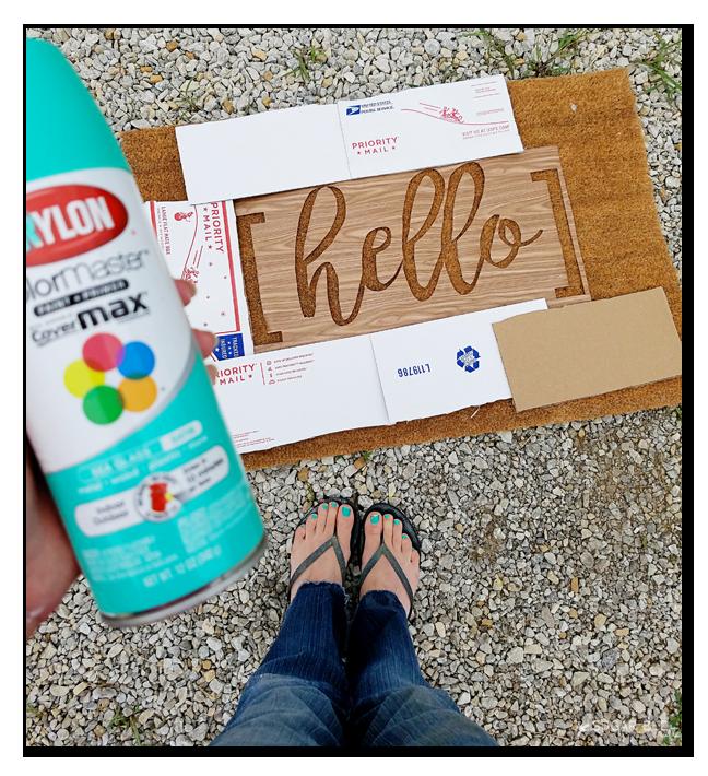 spraypaint door mat