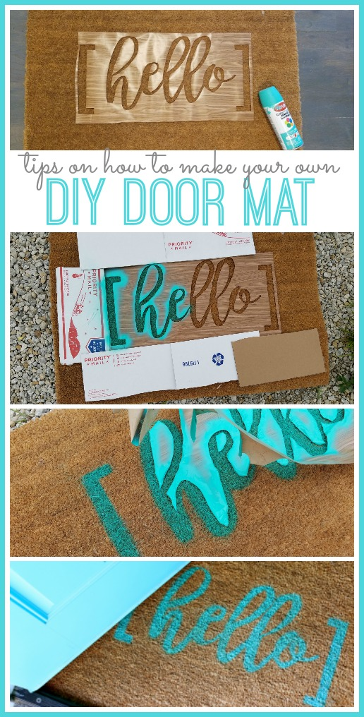 Diy Hello Door Mat Sugar Bee Crafts
