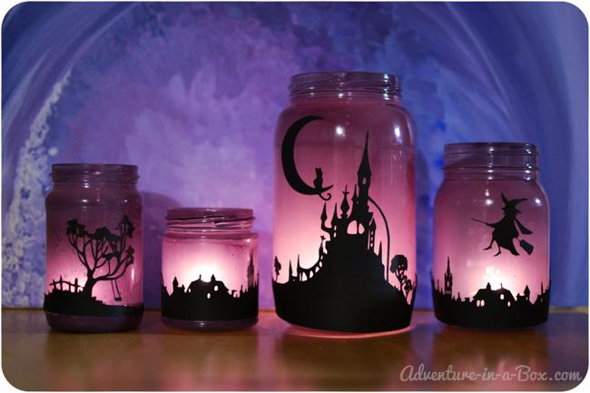 halloween-mason-jars-lanterns-with-silhouettes-5