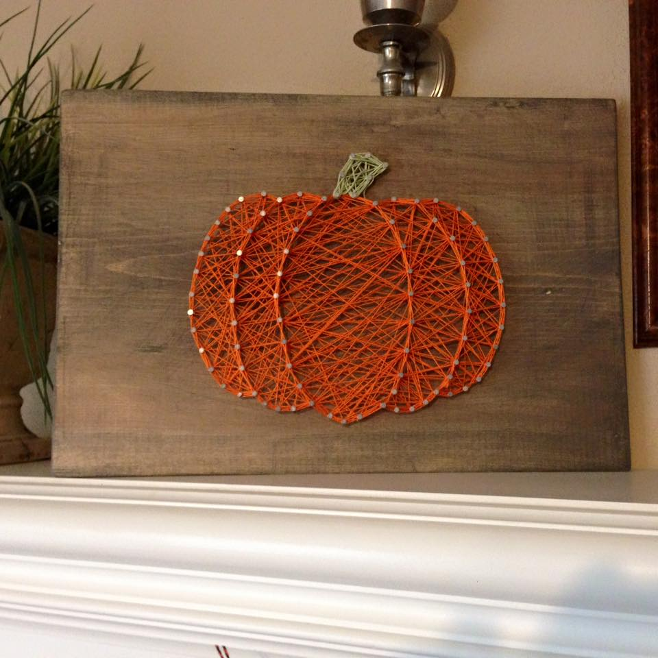fall string art ideas and tutorial sugar bee crafts. Black Bedroom Furniture Sets. Home Design Ideas