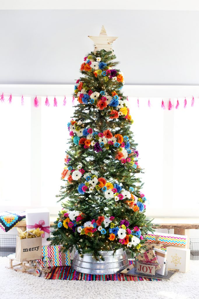 floral-christmas-tree-dream-tree-idea