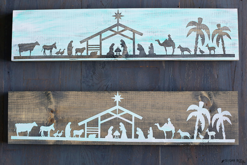 how-to-make-nativity-boards-stencil-in-turquoise