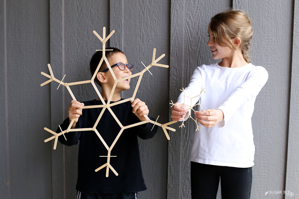 wooden-kids-craft-snowflakes