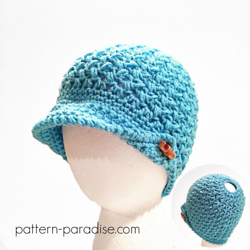 42e45b85787 Bun Hat Crochet Pattern - Sugar Bee Crafts