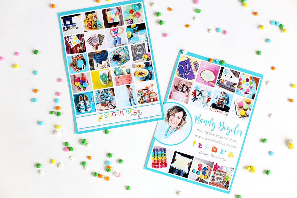 business card media kit
