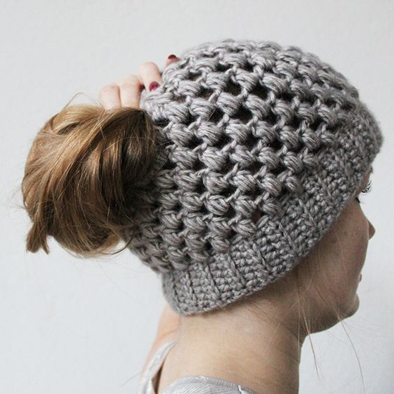 Bun Hat Crochet Pattern - Sugar Bee Crafts