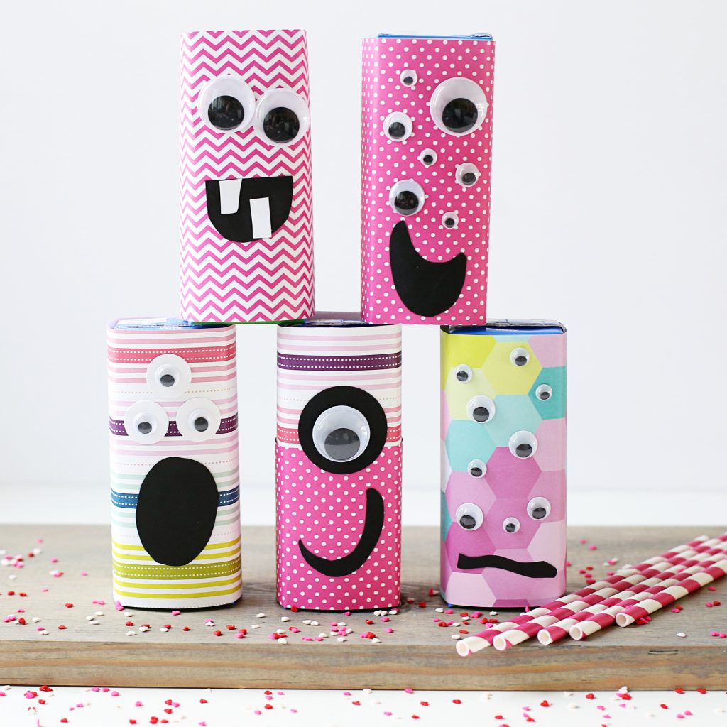 class valentine party juice box treat idea monsters IG