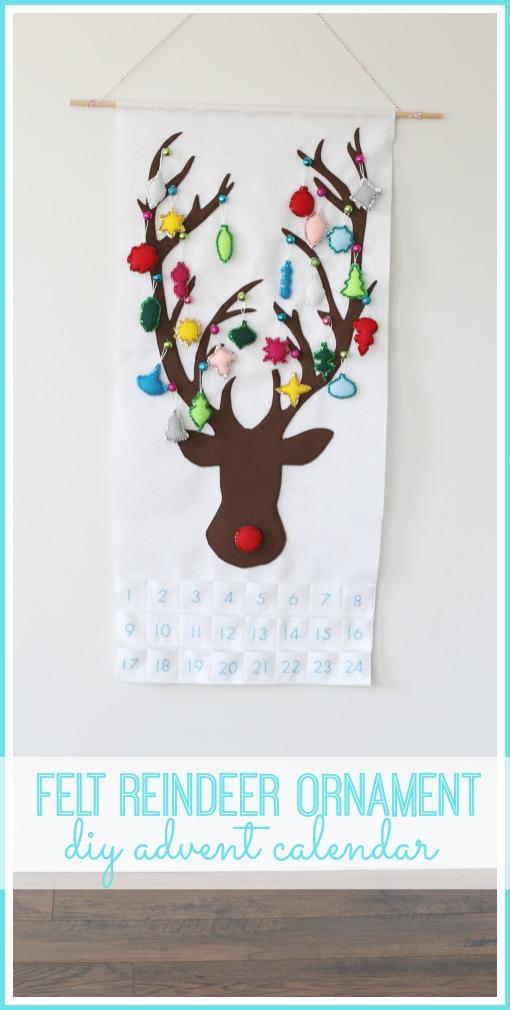 felt reindeer ornament advent calendar
