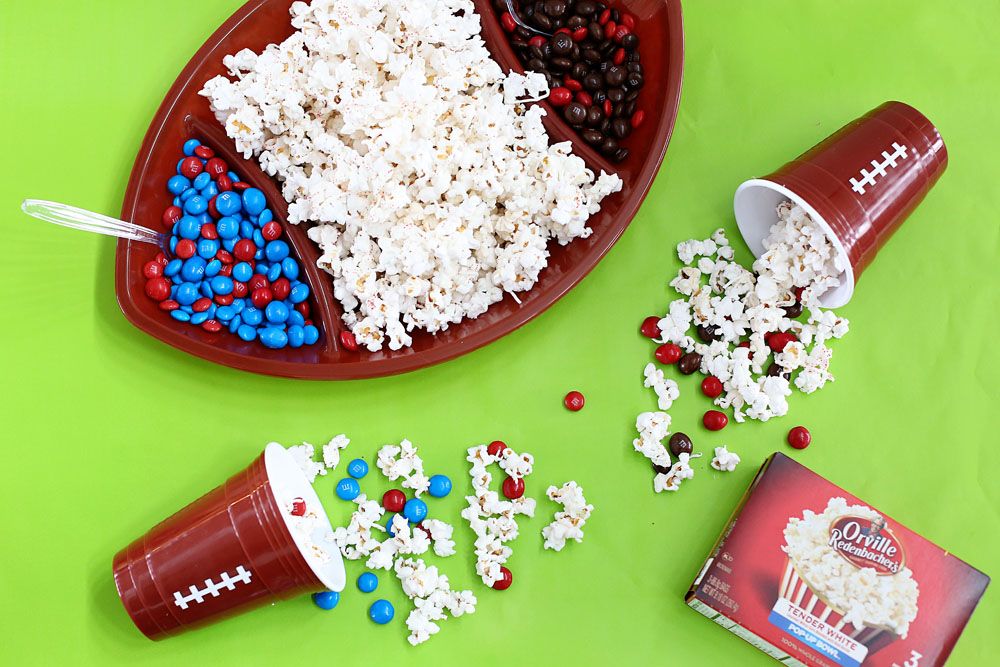head to head game day party popcorn snack
