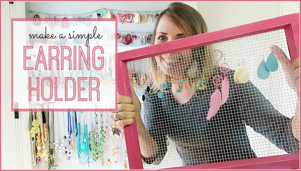 how to make a Simple DIY Earring Holder