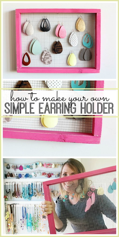 how to make your own diy simple earring holder