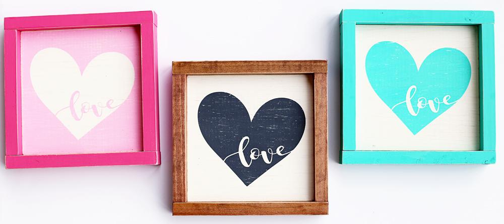 love heart decor signs