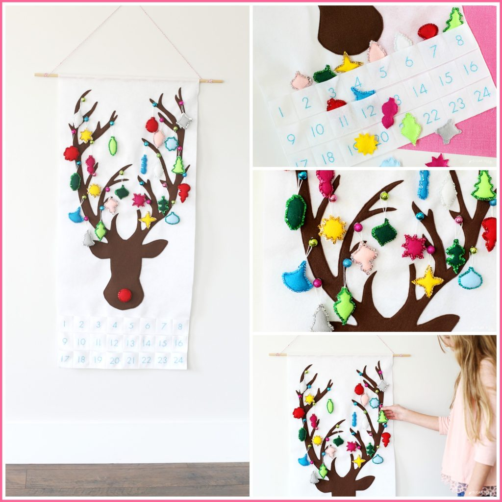 reindeer advent calendar to make yourself christmas craft