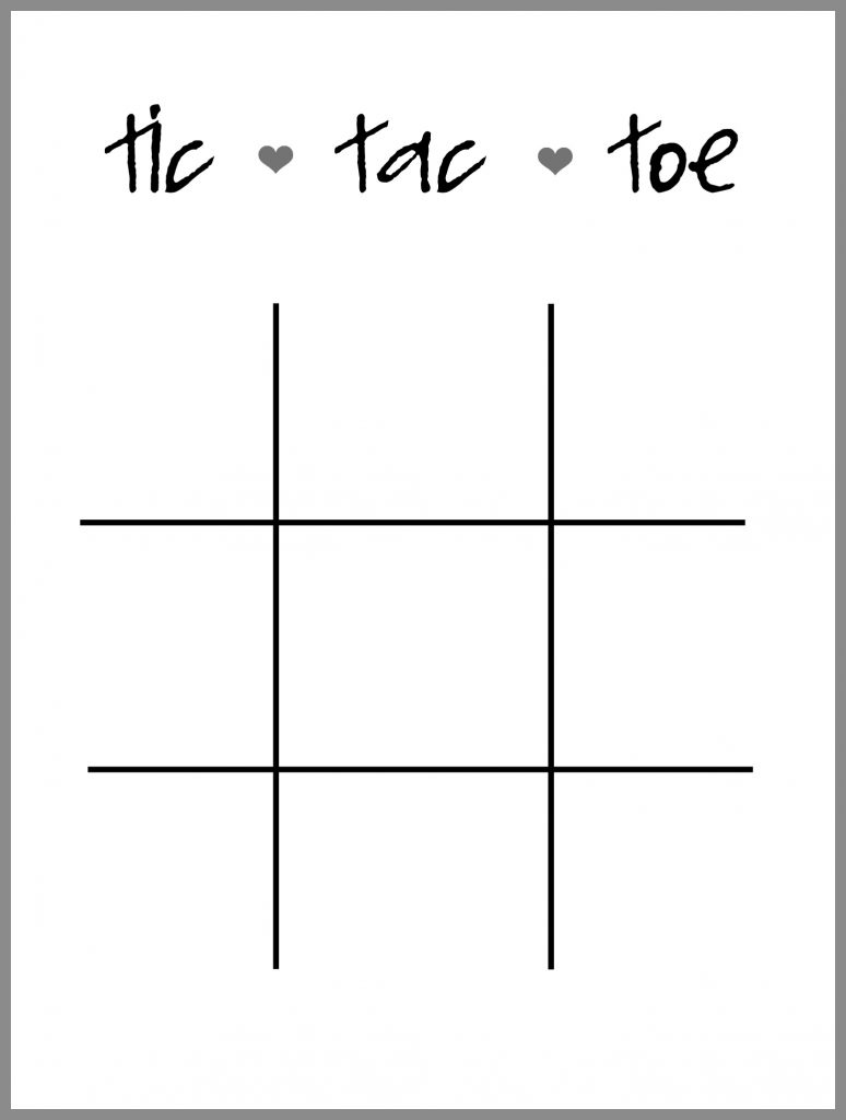 photograph about Free Printable Tic Tac Toe Board titled On your own Rock Valentine Tic Tac Toe - Sugar Bee Crafts