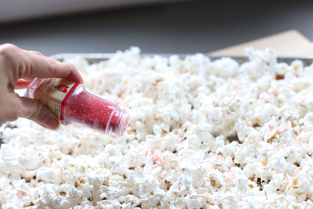 white chocolate popcorn sprinkles