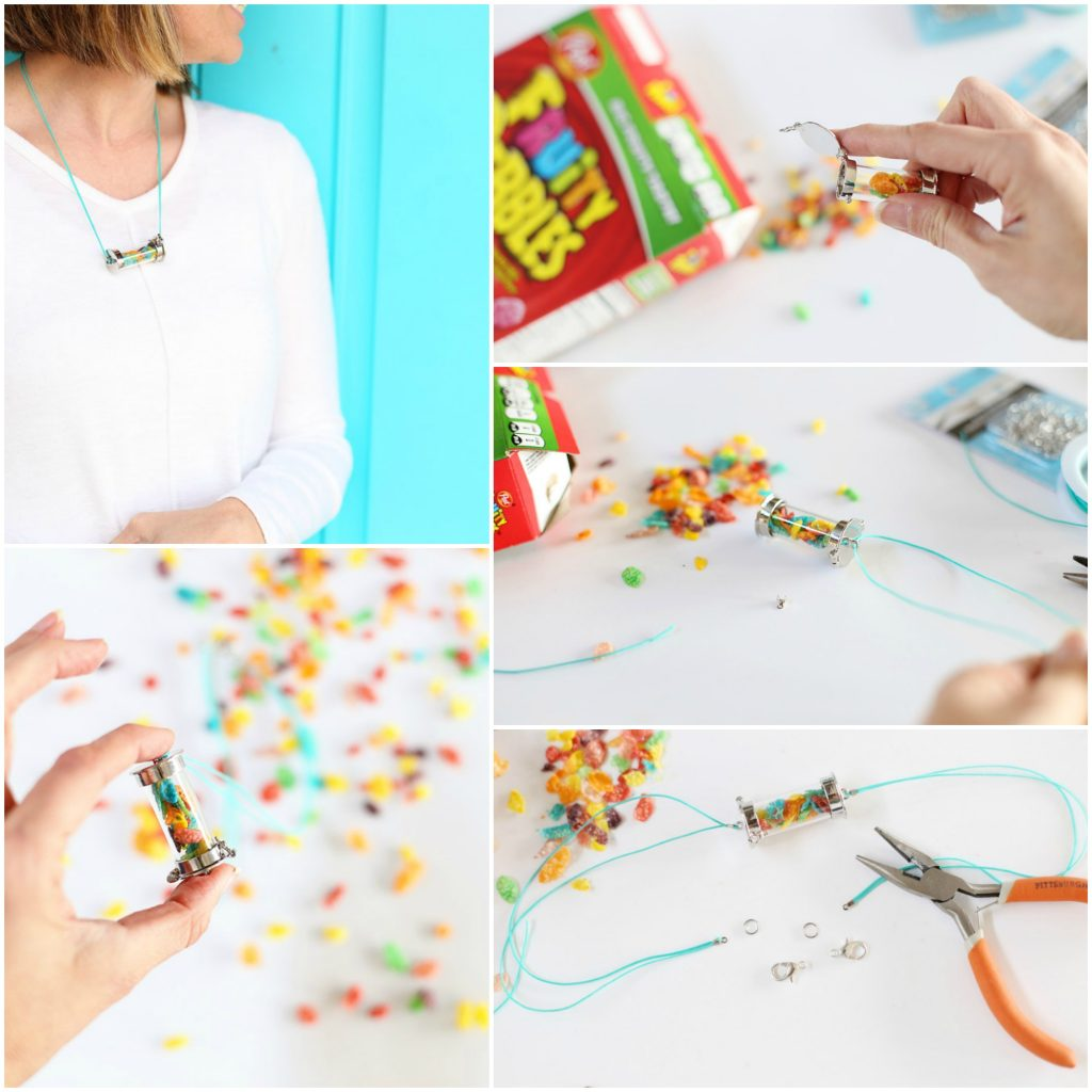cereal pendant collage tutorial