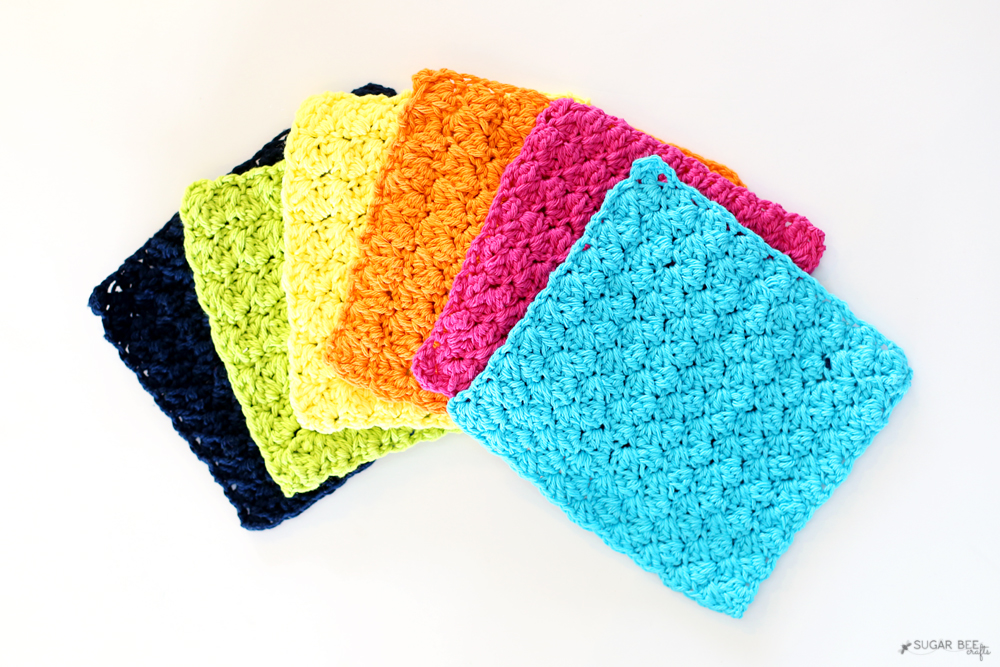 crochet dish cloths diy