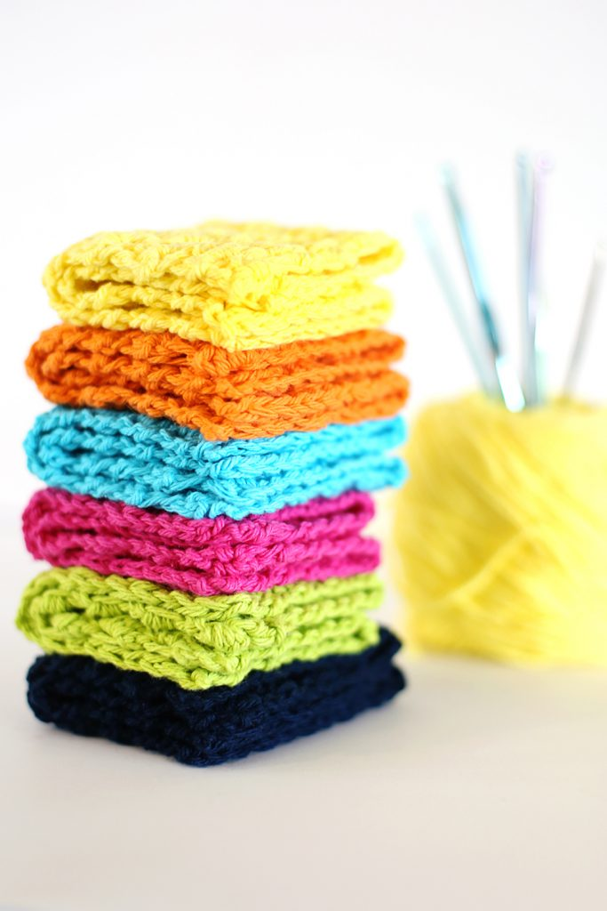 crochet kitchen dish towels crop