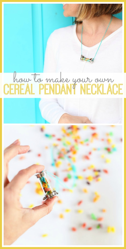how to make a cereal pendant necklace