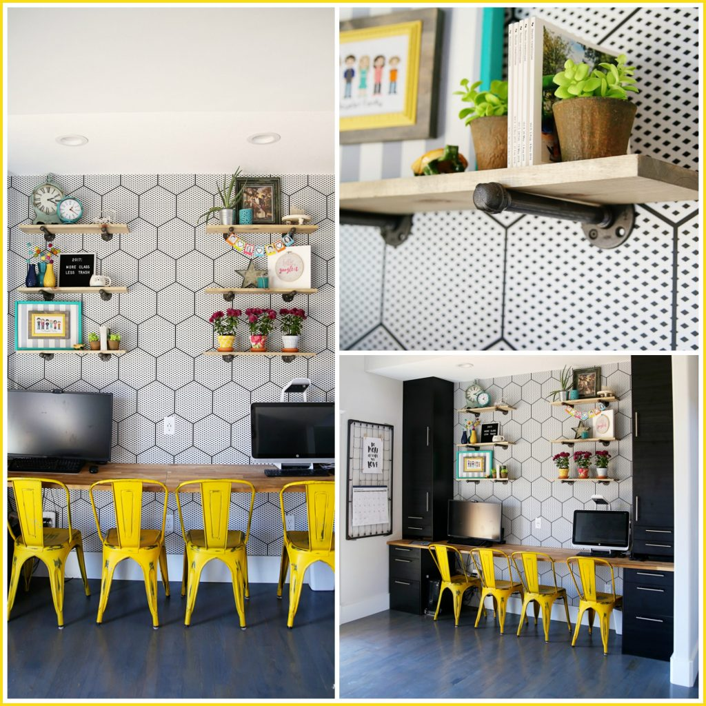 industrial shelf collage