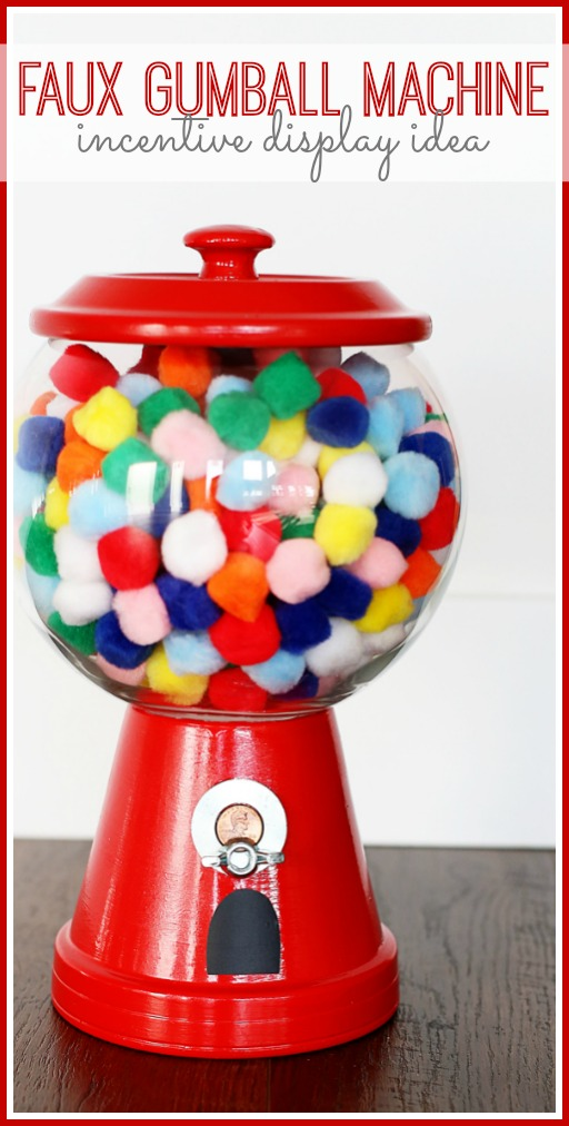 make your own faux gumball incentive