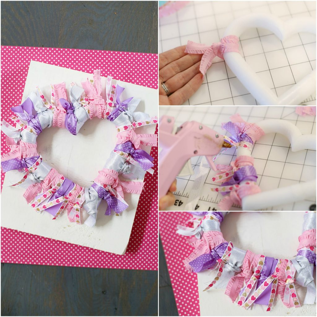 ribbon wreath collage
