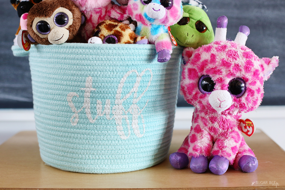 stuff fabric basket diy