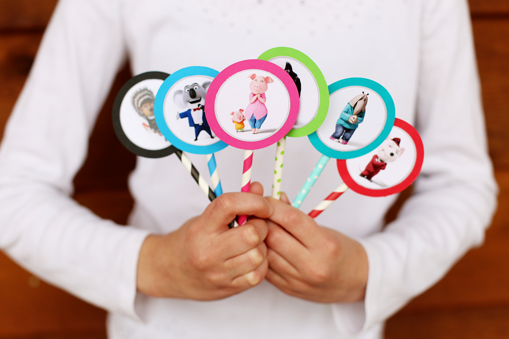 SING cupcake toppers all together