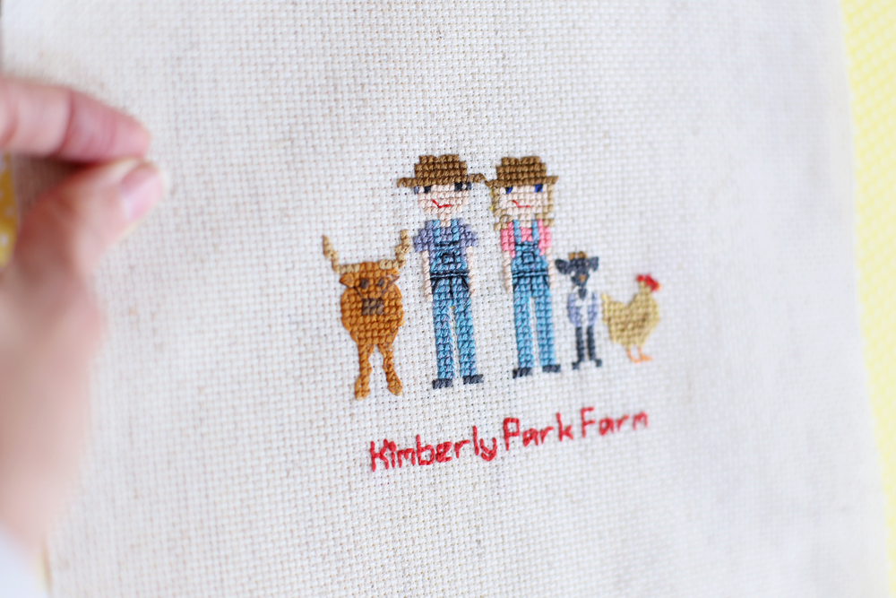 cross stitch farmers details