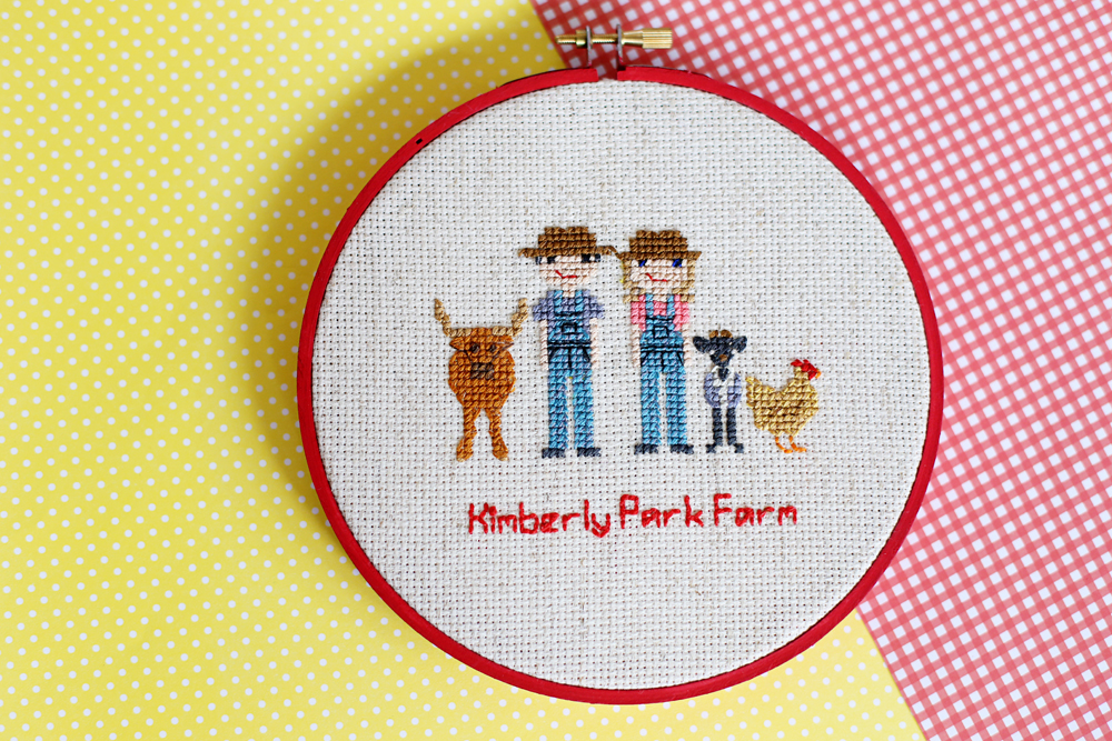 cross stitch people farmers
