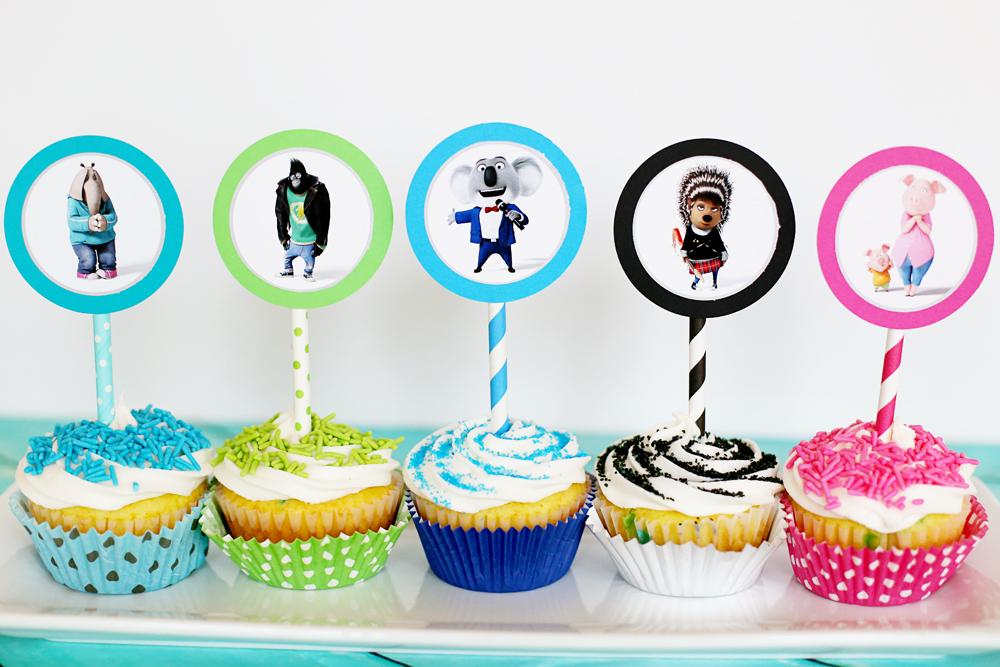 cupcake topper SING movie