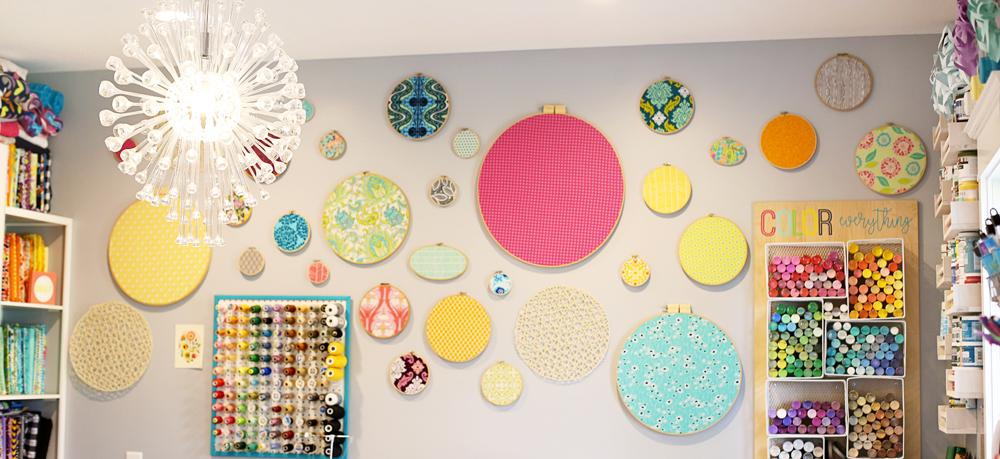 fabric hoop wall decor long