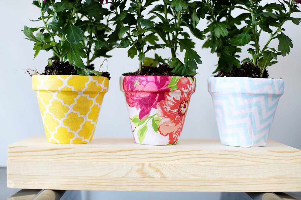 fabric pot diy detail