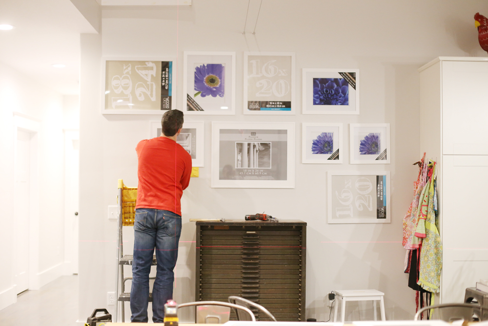 gallery wall installation