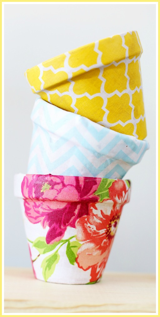 how to make fabric pots details
