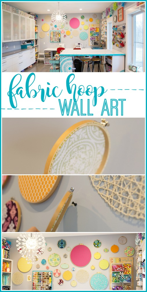 how to put together fabric hoop wall art