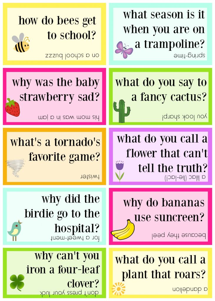 graphic about Lunch Box Jokes Printable identified as Lunch Box Jokes for Spring, Totally free PRINTABLE - Sugar Bee Crafts