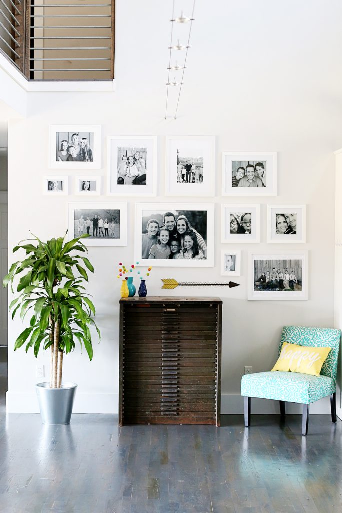 white frame gallery wall 2