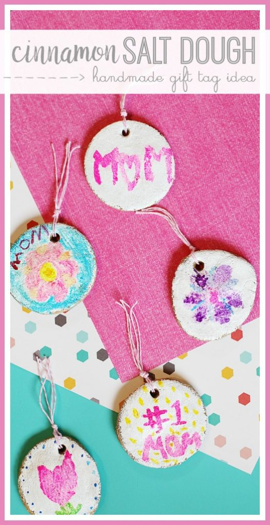 cinnamon salt dough gift tag idea