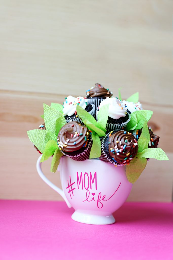 cupcake bouquet mother's day gift idea