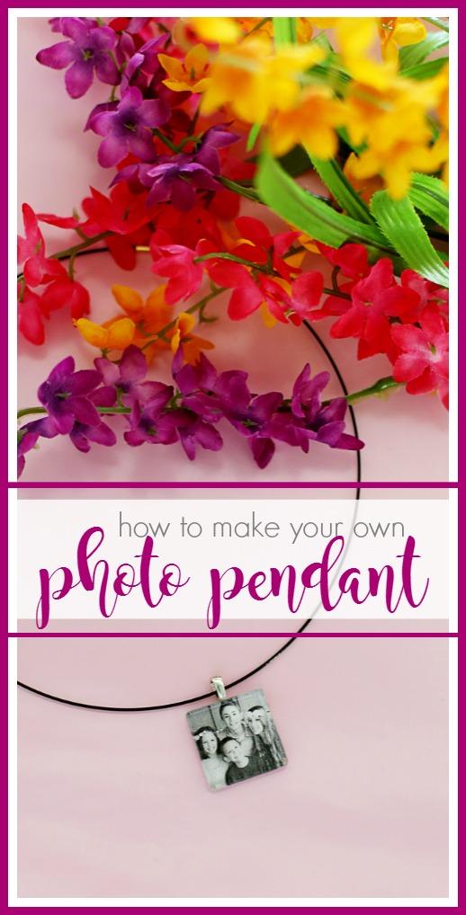 how to make a photo pendant charm
