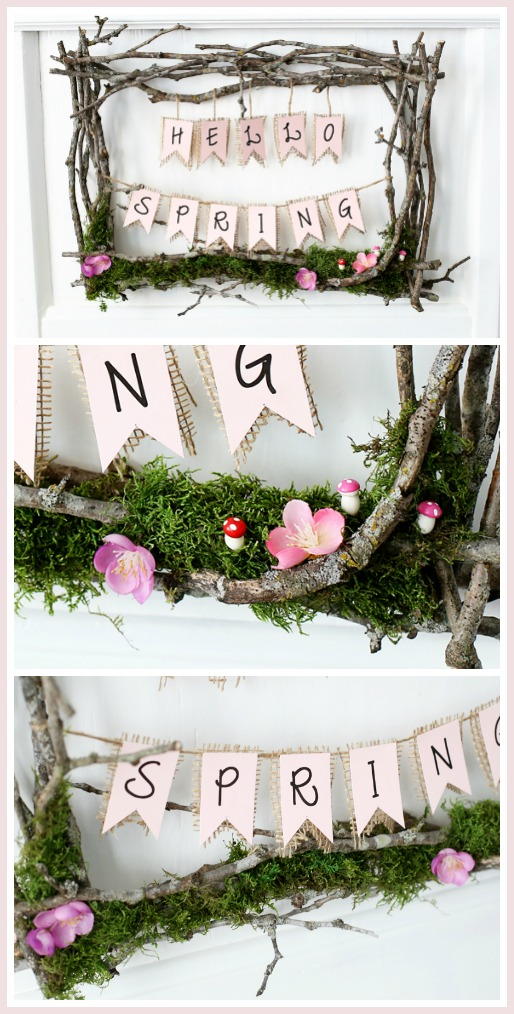spring wreath twig diy